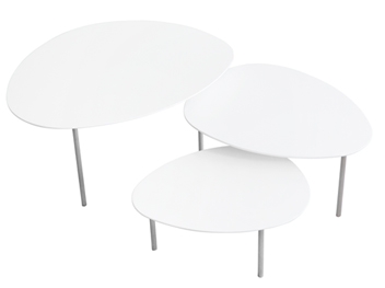 Table basse blanche Eclipse Stua location mobilier