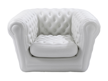 location fauteuil gonflable Blofield Blanc