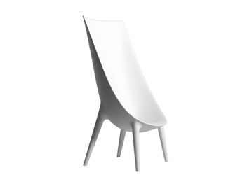 fauteuil dossier haut Out/In Driade de Philippe Starck location