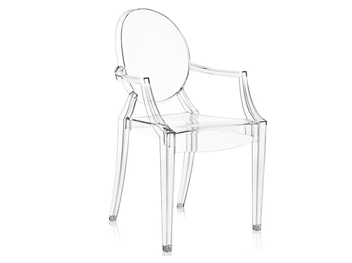 fauteuil louis ghost kartell translucide philippe starck location mobilier