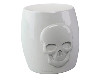 tabouret skull tête de mort my your location blanc
