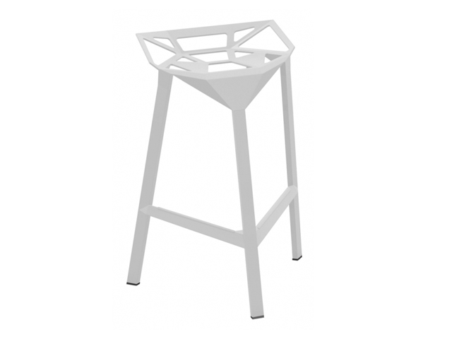 Tabouret de bar stool one blanc location mobilier d 39 ext rieur for Tabouret de bar exterieur